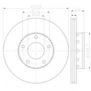 92176803 Disco de FrenoPRO Ventilado Posterior