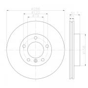 92055605 Disco de Freno PRO Ventilado Delantero