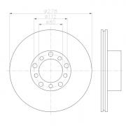 92020400 Disco de Freno Ventilado Delantero