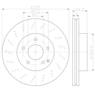 Disco de FrenoPRO Perforado Delantero & Posterior