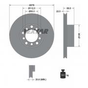 92009800 Disco de Freno  Delantero Ventilado