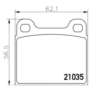 2103501 Pastilla de Freno Posterior