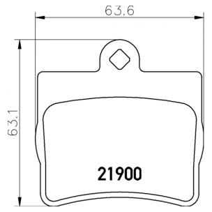 2190003 Pastilla de Freno Posterior