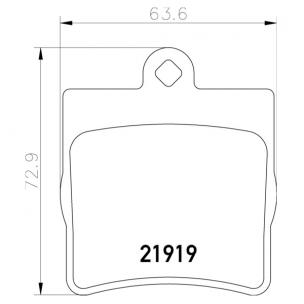 2191901 Pastilla de Freno Posterior