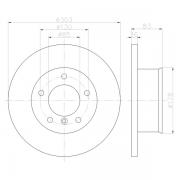 92229805 Genuine OE Textar recubierto de alto carbono Delantero Discos De Freno Ventilados Par